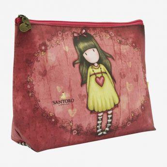 kosmetyczka - Santoro - kolekcja Gorjuss - Dziewczynka z sercem