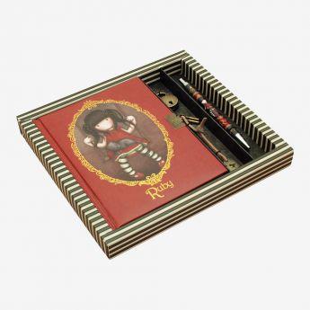 pamiętnik-notatnik - zamykany na kłódkę - z długopisem - Santoro - kolekcja Gorjuss