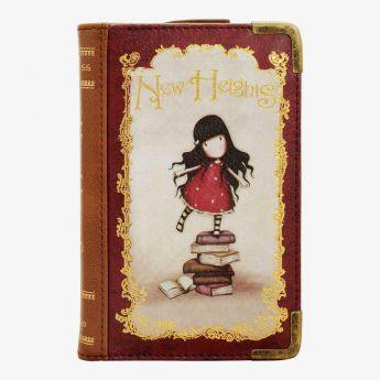 portfelik z okuciami - Santoro - kolekcja Gorjuss - Dziewczynka z książkami