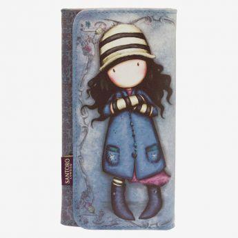 duży portfel z przegródkami - Santoro - kolekcja Gorjuss - Dziewczynka z muchomorami