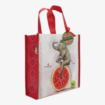 mała torba na zakupy - Santoro - Fruity Scooty - Słoń na bicyklu