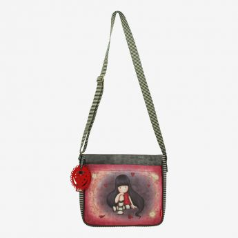 torebka na ramię - Santoro - kolekcja Gorjuss - serduszka