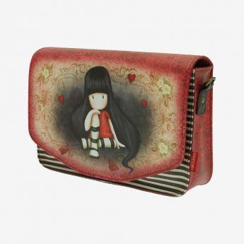 torebka z paskiem - Santoro - kolekcja Gorjuss - serduszka