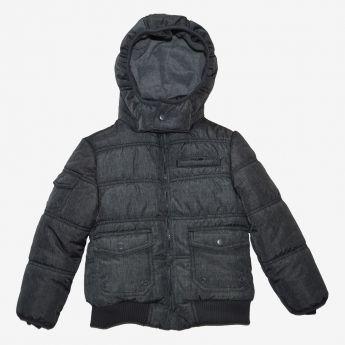 Trybeyond - puchowa kurtka z odpinanym kapturem - ciemnoszara