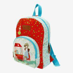 plecak - Santoro - kolekcja Kori Kumi - czerwono-błękitny
