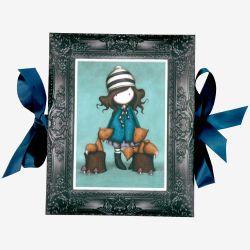 rozkładane ramki na zdjęcia ze wstążeczkami - Santoro - kolekcja Gorjuss - Dziewczynka z liskami