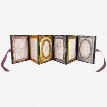 rozkładane ramki na zdjęcia ze wstążeczkami - Santoro - kolekcja Gorjuss - Dziewczynka z książkami
