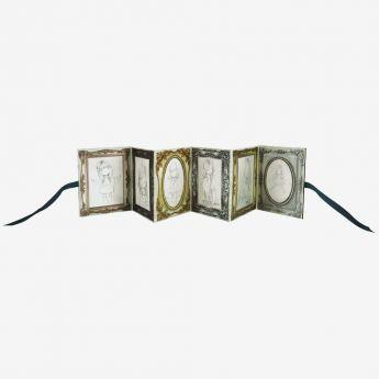 rozkładane ramki na zdjęcia ze wstążeczkami - Santoro - kolekcja Gorjuss - Dziewczynka z wycinanką