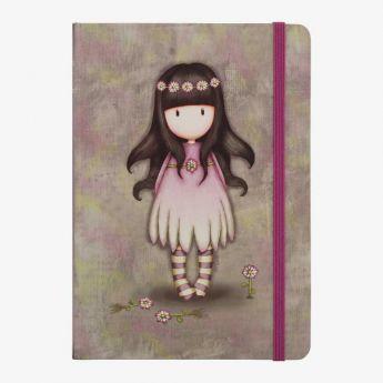 notatnik-pamiętnik w twardej oprawie - Santoro - kolekcja Gorjuss - stokrotki