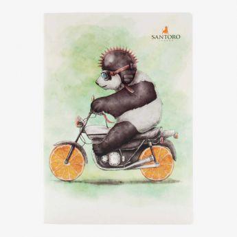zeszyt - Santoro - Fruity Scooty - Panda na motorze