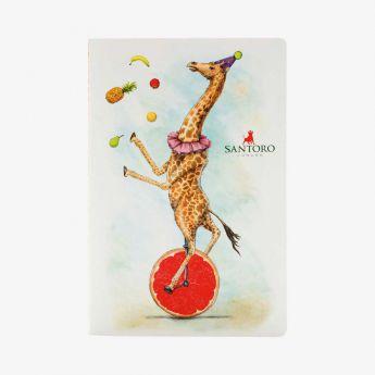 zeszyt - Santoro - Fruity Scooty - Żyrafa na jednym kole