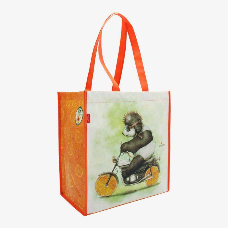 0380bdd171e56 torba na zakupy - Santoro - Fruity Scooty - Panda na motorze - Mokiki