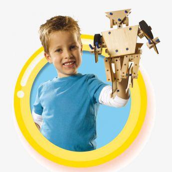 samochód, robot - zestaw drewniany - SES Creative