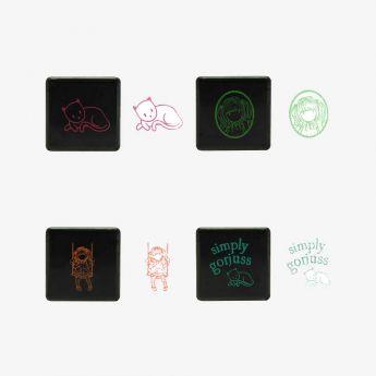 zestaw pieczątek - Santoro - Gorjuss - Ruby