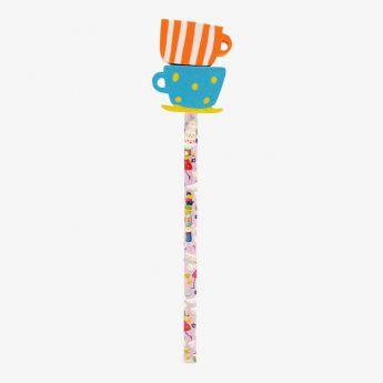ołówek z gumkami - Santoro - Kori-Kumi - filiżanka