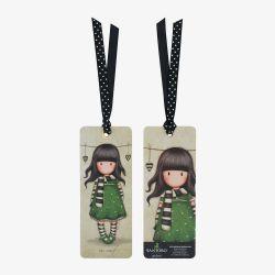 zakładka do książki - Santoro - kolekcja Gorjuss - dziewczynka z szalikiem