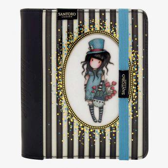 elegancki organizer - Santoro - kolekcja Gorjuss - Dziewczynka w kapeluszu