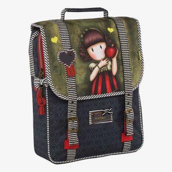 plecak z uchwytem - Santoro - Gorjuss - Dziewczynka z jabłkiem