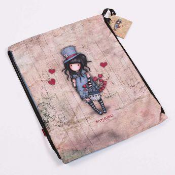 worek ściągany na sznurki - Santoro - Gorjuss - Dziewczynka w kapeluszu