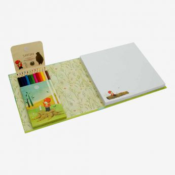 zestaw do rysowania z kredkami - Santoro - Poppi Loves