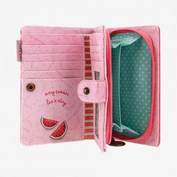 duży portfel z przegródkami - Santoro - Gorjuss - arbuz