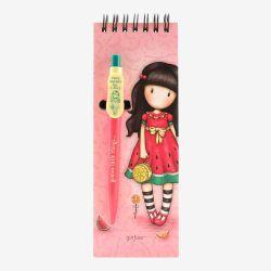 kołonotatnik z długopisem - Santoro - Gorjuss - arbuz