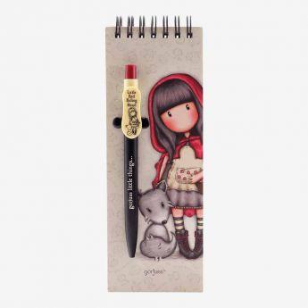 kołonotatnik z długopisem - Santoro - Gorjuss - Czerwony Kapturek