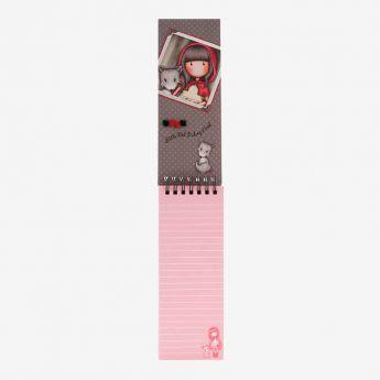Mini kołonotatnik z długopisem - Santoro - Gorjuss - Czerwony Kapturek