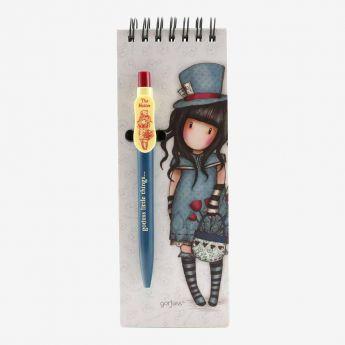 kołonotatnik z długopisem - Santoro - Gorjuss - Dziewczynka w kapeluszu