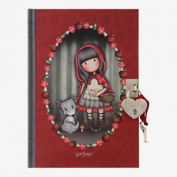 pamiętnik-notatnik - zamykany na kluczyk - Santoro - Gorjuss - Czerwony Kapturek
