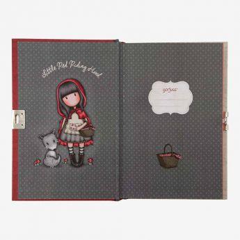 pamiętnik-notatnik - zamykany na kłódkę - Santoro - Gorjuss - Czerwony Kapturek