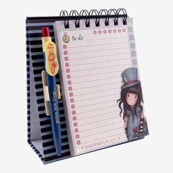 kołonotatnik stojący z długopisem - Santoro - Gorjuss - Dziewczynka w kapeluszu