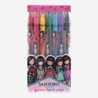 komplet 7 pisaków - Santoro - Gorjuss