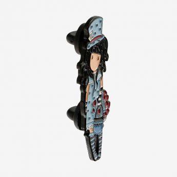 metalowa przypinka - Santoro - Gorjuss - Dziewczynka w kapeluszu