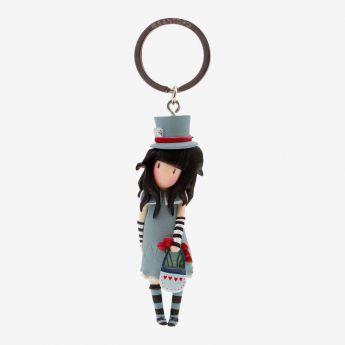 breloczek do kluczy - Santoro - Gorjuss - Dziewczynka w kapeluszu