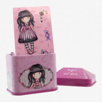 metalowe pudełko z naklejkami - Santoro - Gorjuss - cukierek
