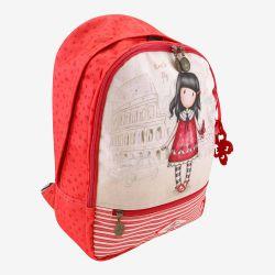 dwukomorowy plecak szkolny z kieszenią - Santoro - Gorjuss - motylki