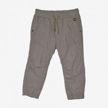 Birba - beżowe spodnie ze ściągaczami i z podszewką
