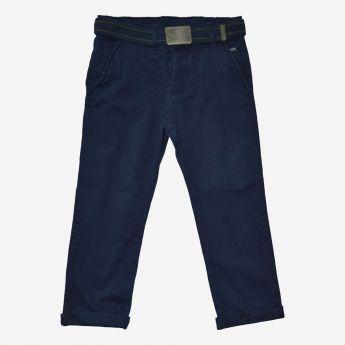 Trybeyond - granatowe spodnie z paskiem