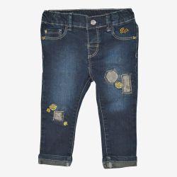 Birba - spodnie jeansowe z naszywkami i haftami