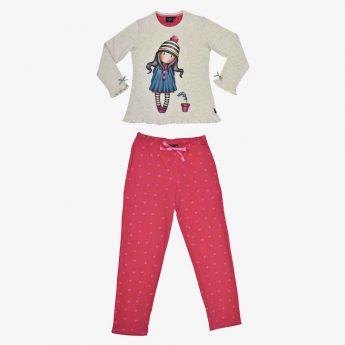 piżama - Santoro - Gorjuss - dziewczynka w czapce