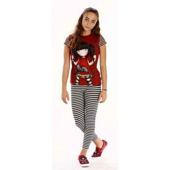 komplet bluzka kr.rękaw i legginsy - Santoro - Gorjuss - Ruby