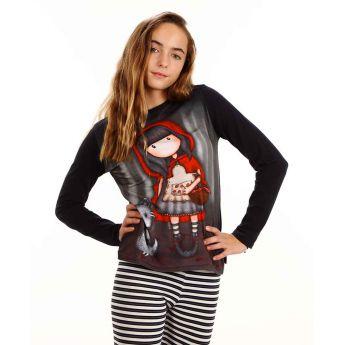 bluzka z długimi rękawami - Santoro - Gorjuss - czerwony kapturek