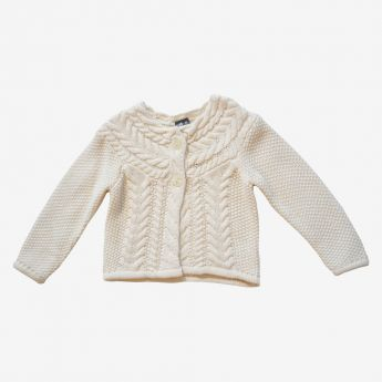 Birba - elegancki sweter zapinany na 2 guziki
