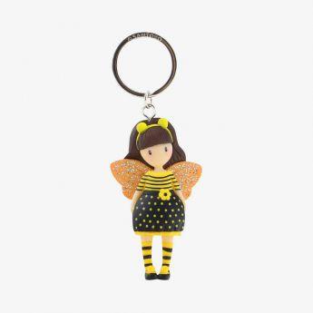 breloczek do kluczy - Santoro - Gorjuss - pszczółka