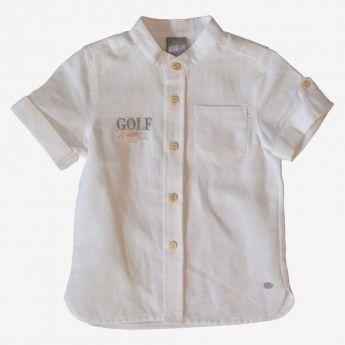 Birba - koszula z krótkim rękawem - z lnem