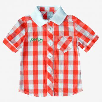 Birba - koszula w kratkę z kołnierzykiem polo