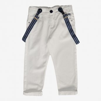 Trybeyond - długie spodnie z ozdobnymi szelkami