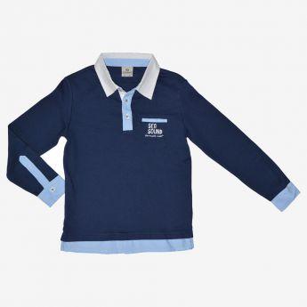 Trybeyond - koszulka polo z imitacją koszuli
