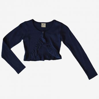 Trybeyond - sweterek - bolerko - kolor granatowy